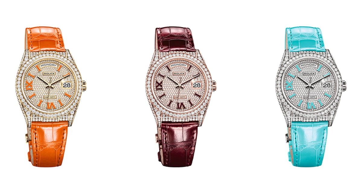 New diamond encrusted rolex day date 36 2021
