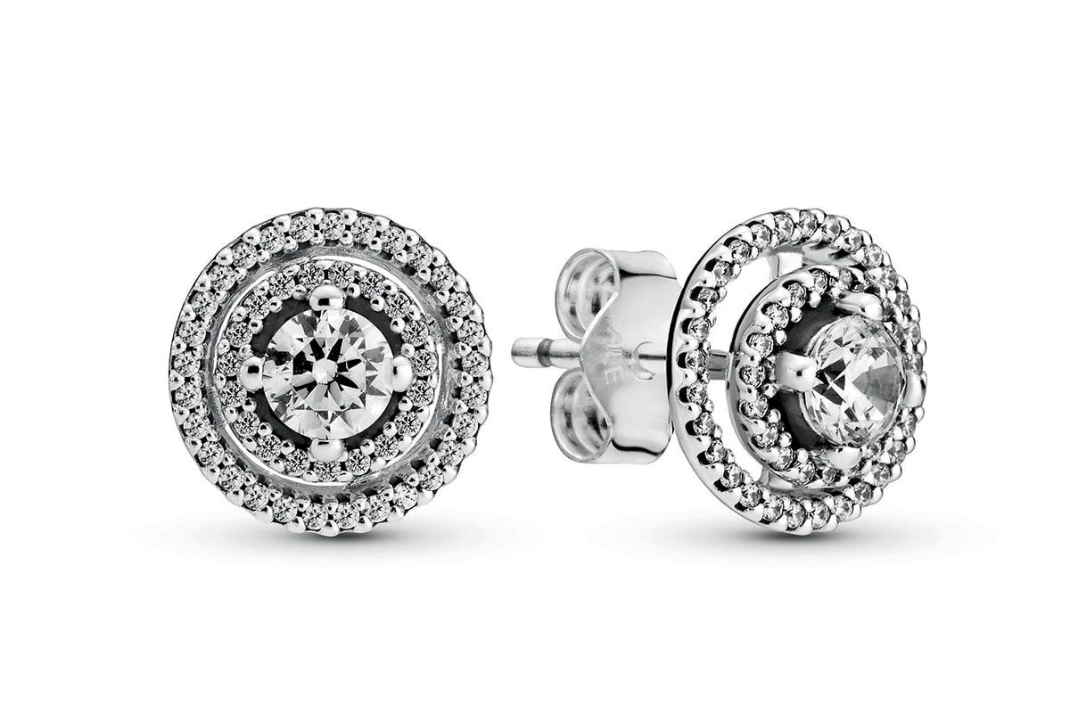 Pandora double halo stud earrings