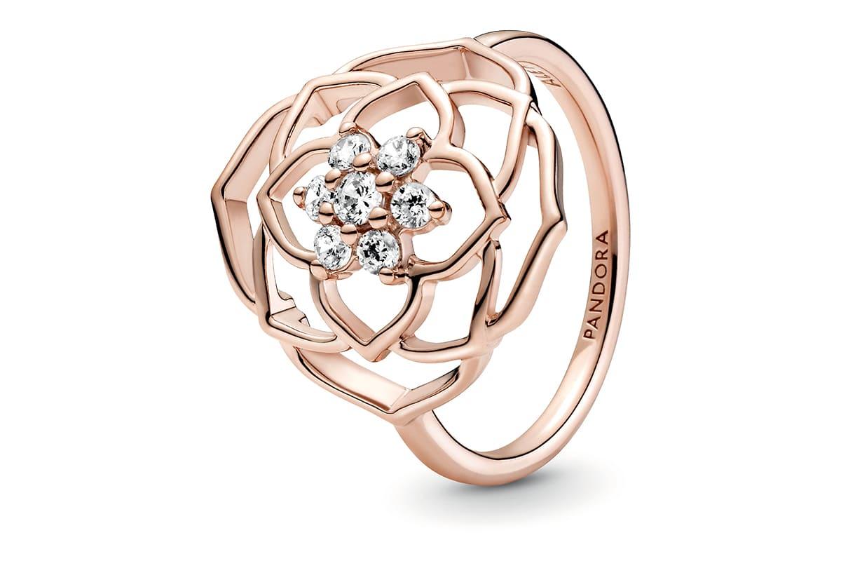 Pandora rose ring copy