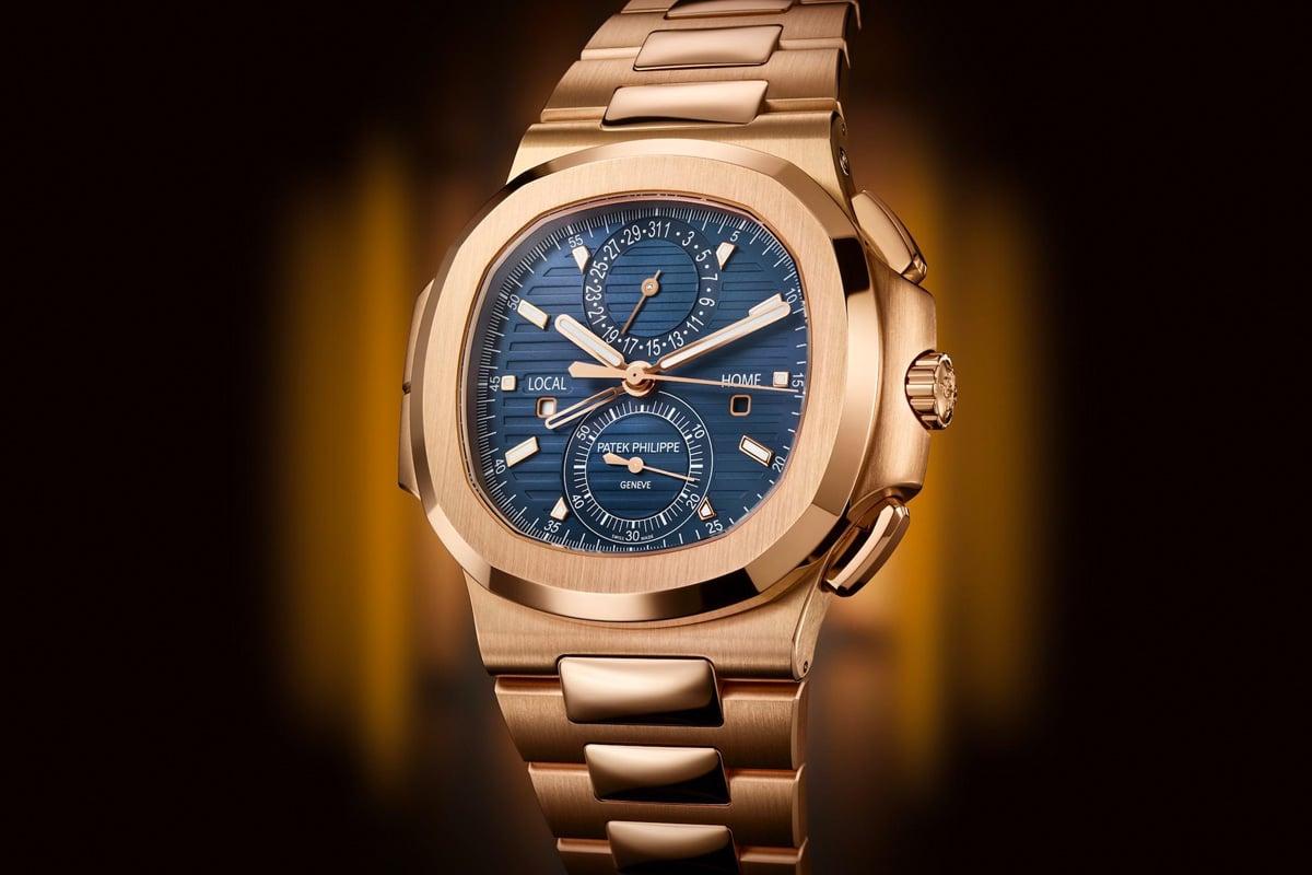 Patek philippe 59901r 001 nautilus travel time chronograph