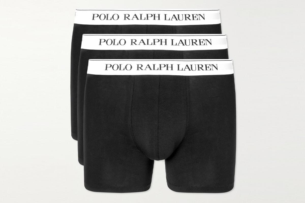 Polo ralph lauren three pack stretch cotton jersey boxer briefs