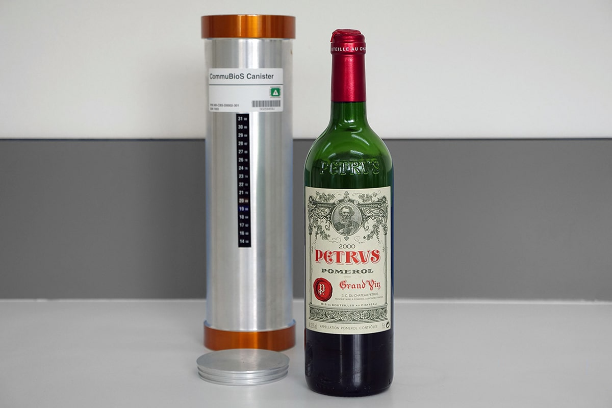The first space aged wine