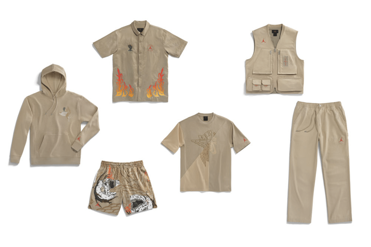Travis scott jordan 6 british khaki clothing release