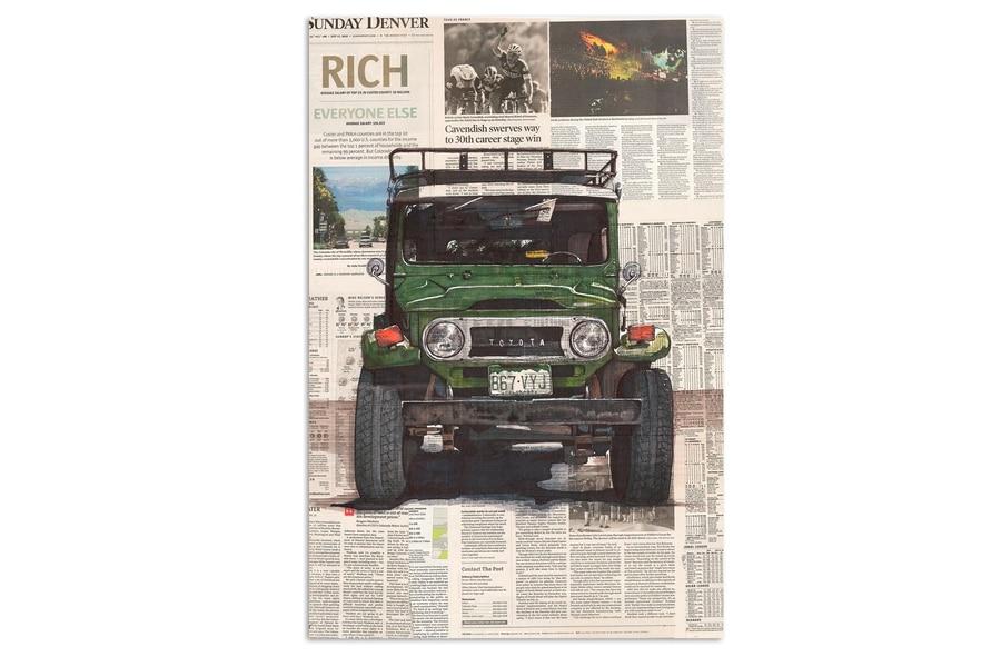 toyota land cruiser 40 art print