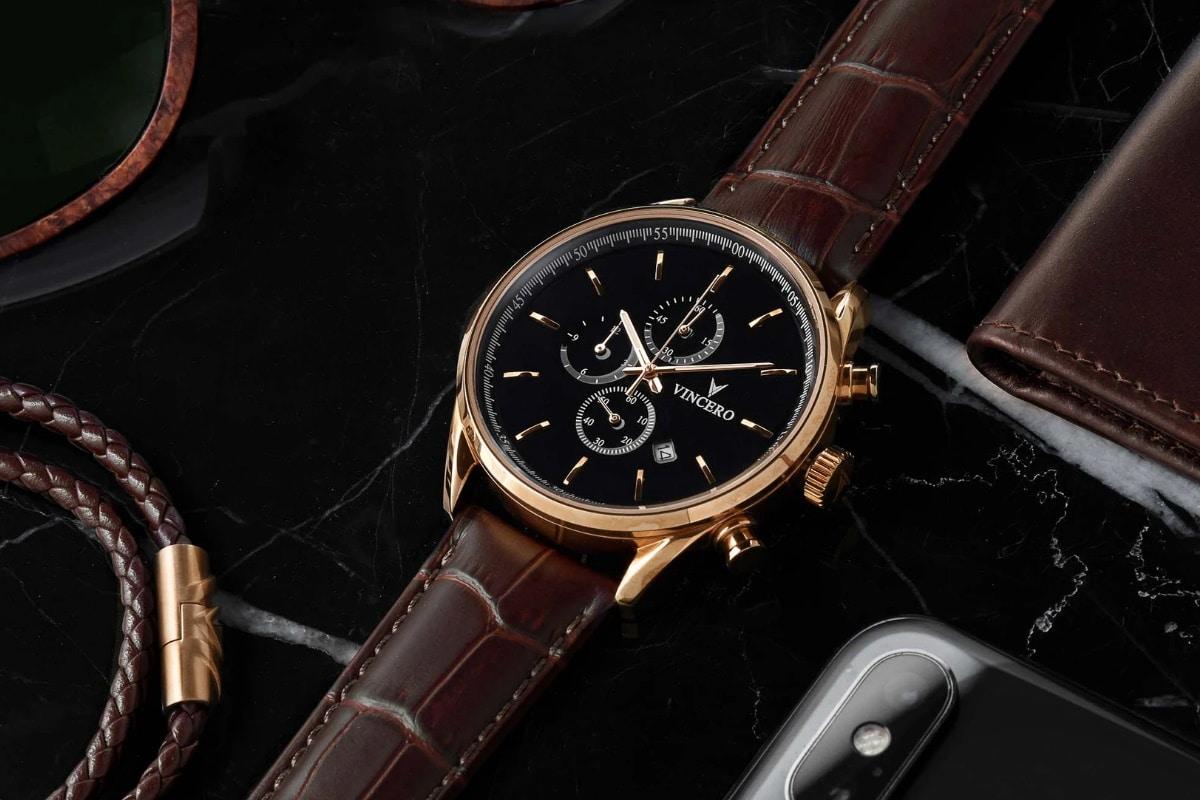 Vincero chrono s gold watch