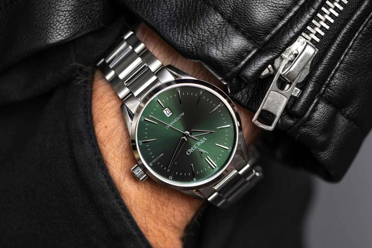 Vincero the icon green watch