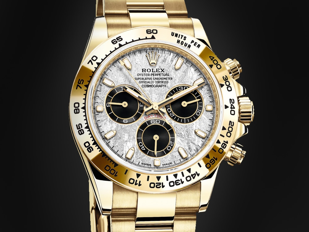 Gold Rolex Daytona with Meteorite Dial