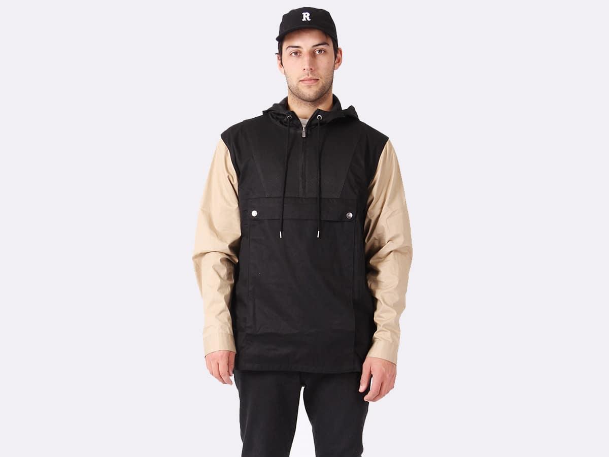 RPM Outfield Pullover Men's Jacket - Black Beige