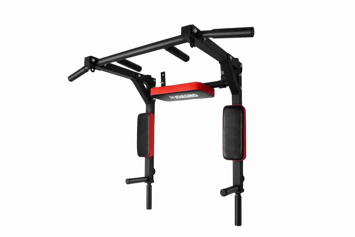 onetwofit multifunctional wall mounted pull up bar