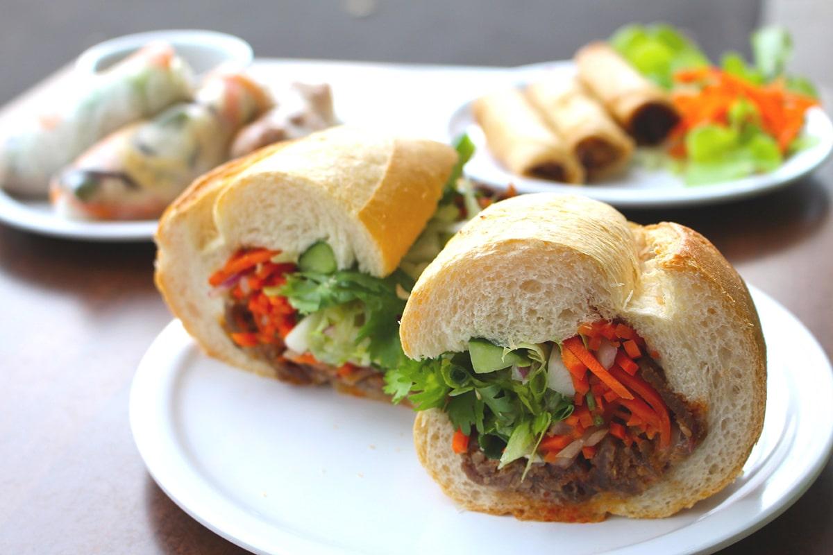 Vietnamese Banh Mi Pork Roll