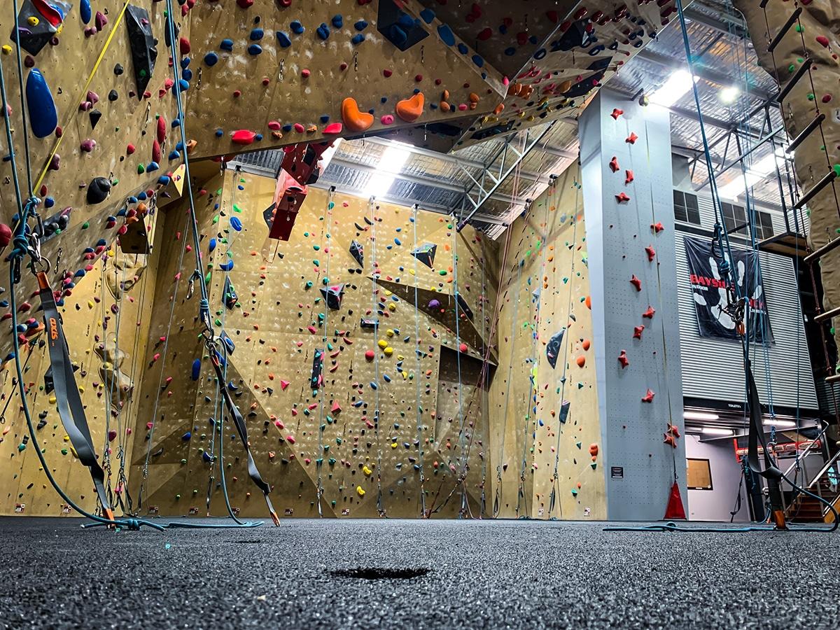 bayside rock climbing gym interior