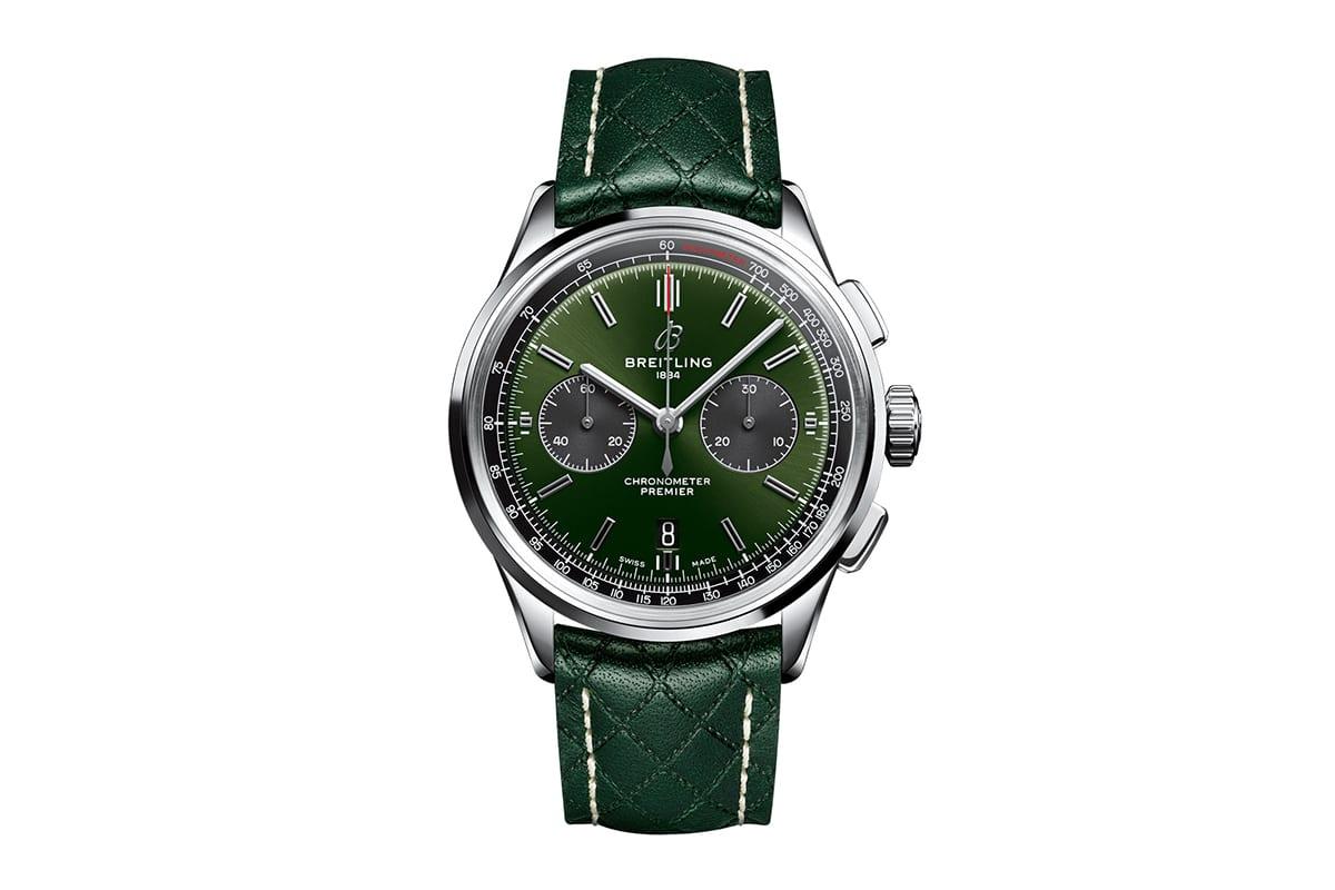 breitling premier b01 bentley british racing green watch