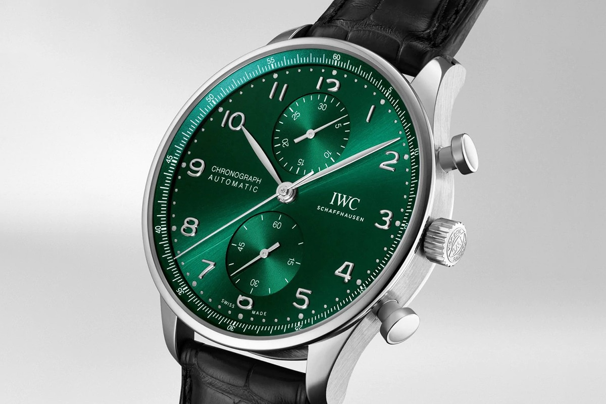 iwc portugieser chronograph green dial Watch