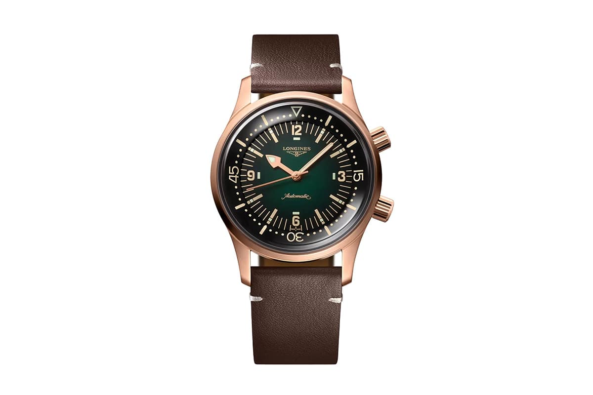 longines legend diver bronze with green dial Watch