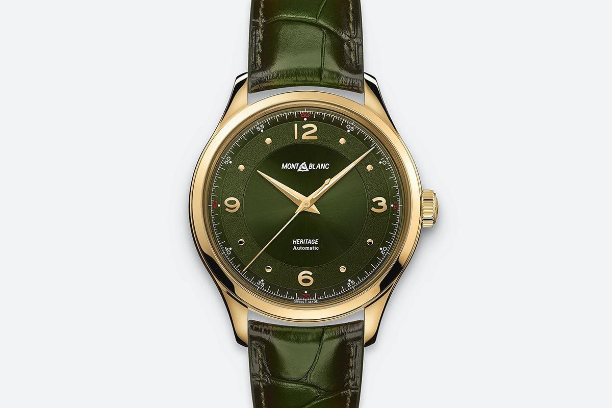 montblanc heritage green gold Watch
