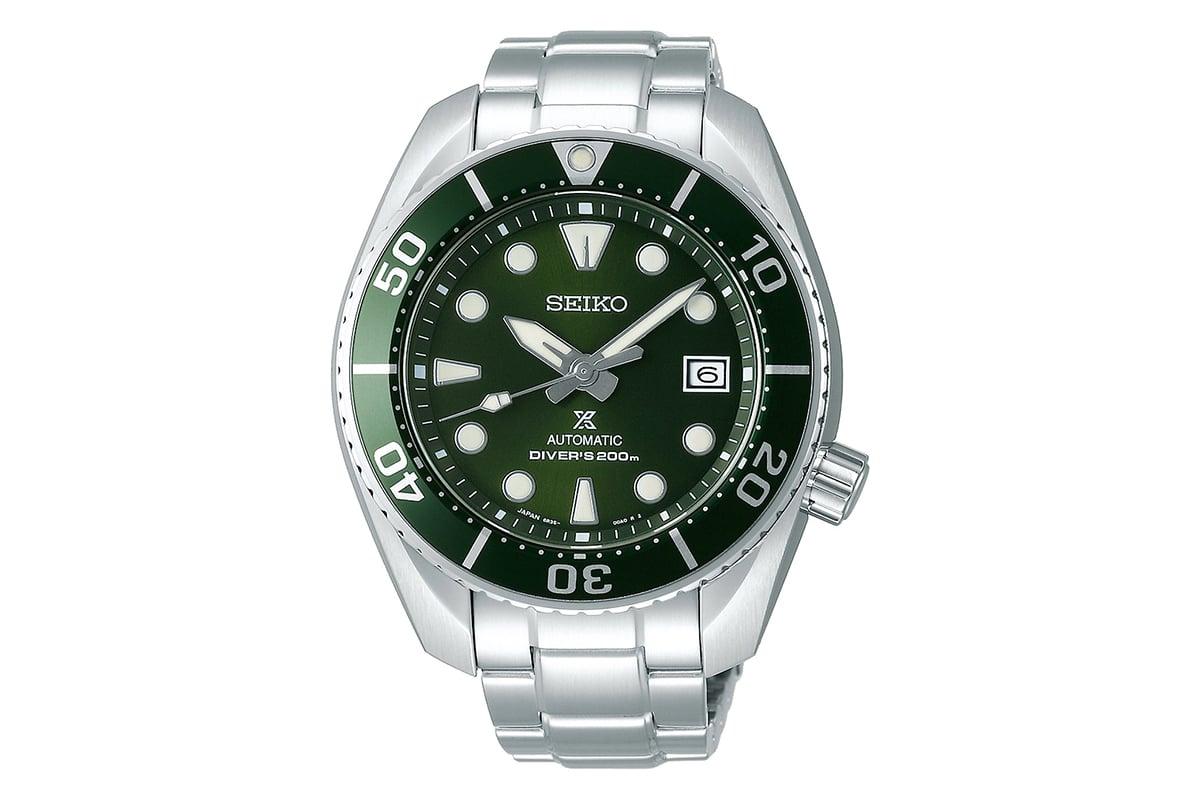 seiko prospex green sumo divers watch