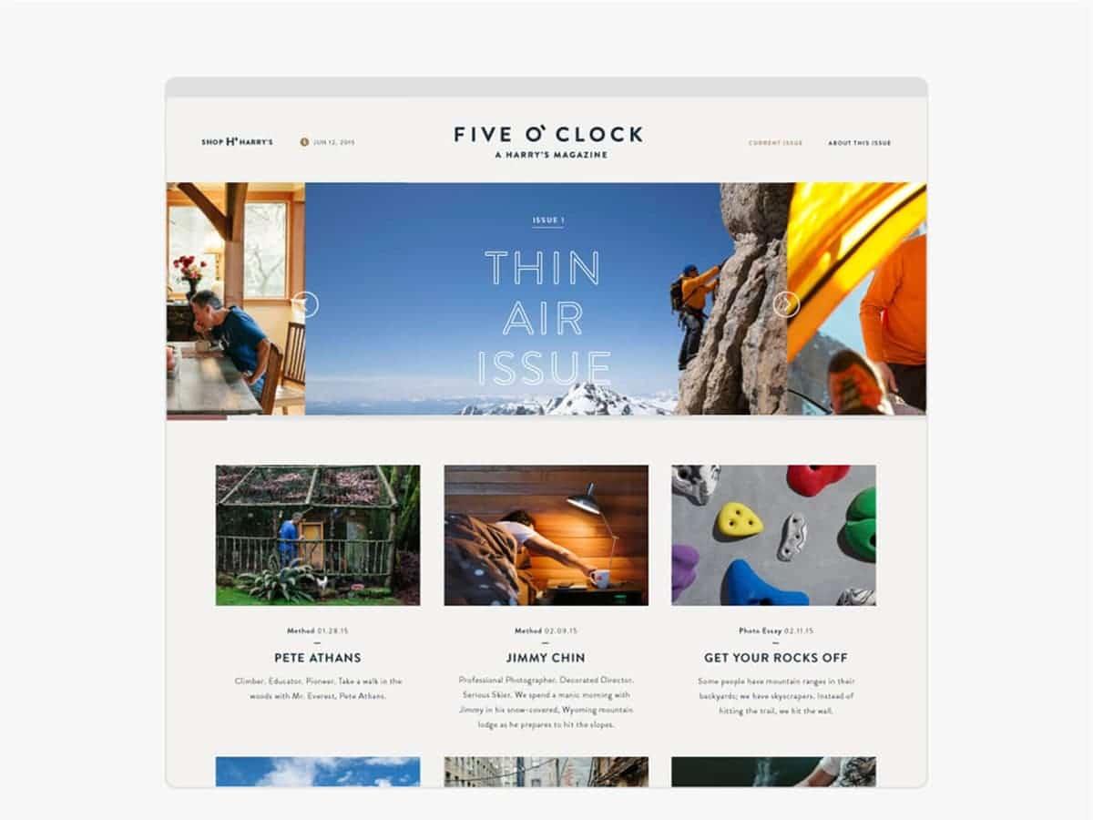 Five O'Clock - A Harry's Magazine