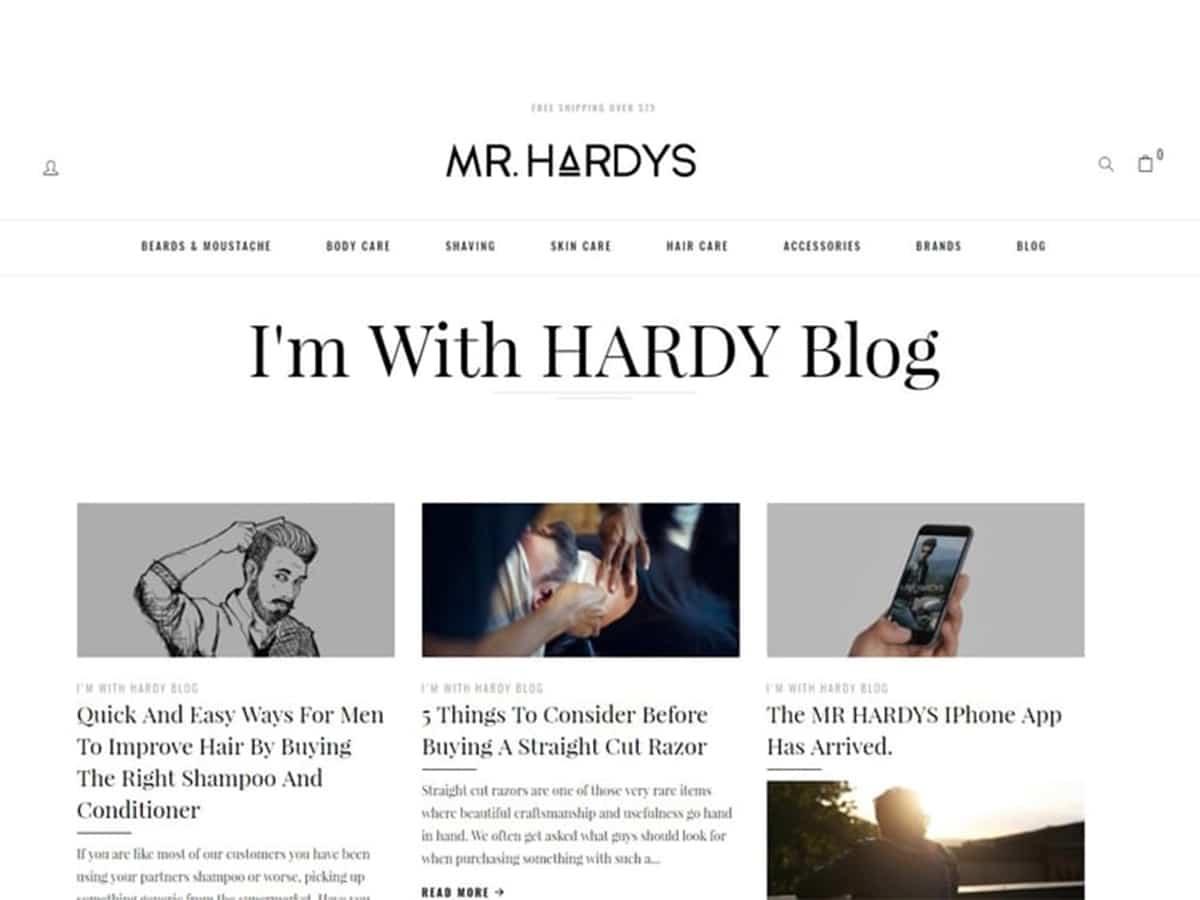 I'm With HARDY Blog by Mr. Hardys