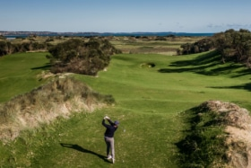 Barnbougle new golf course bougle run 4