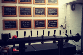 Blackfont brewery bar menu