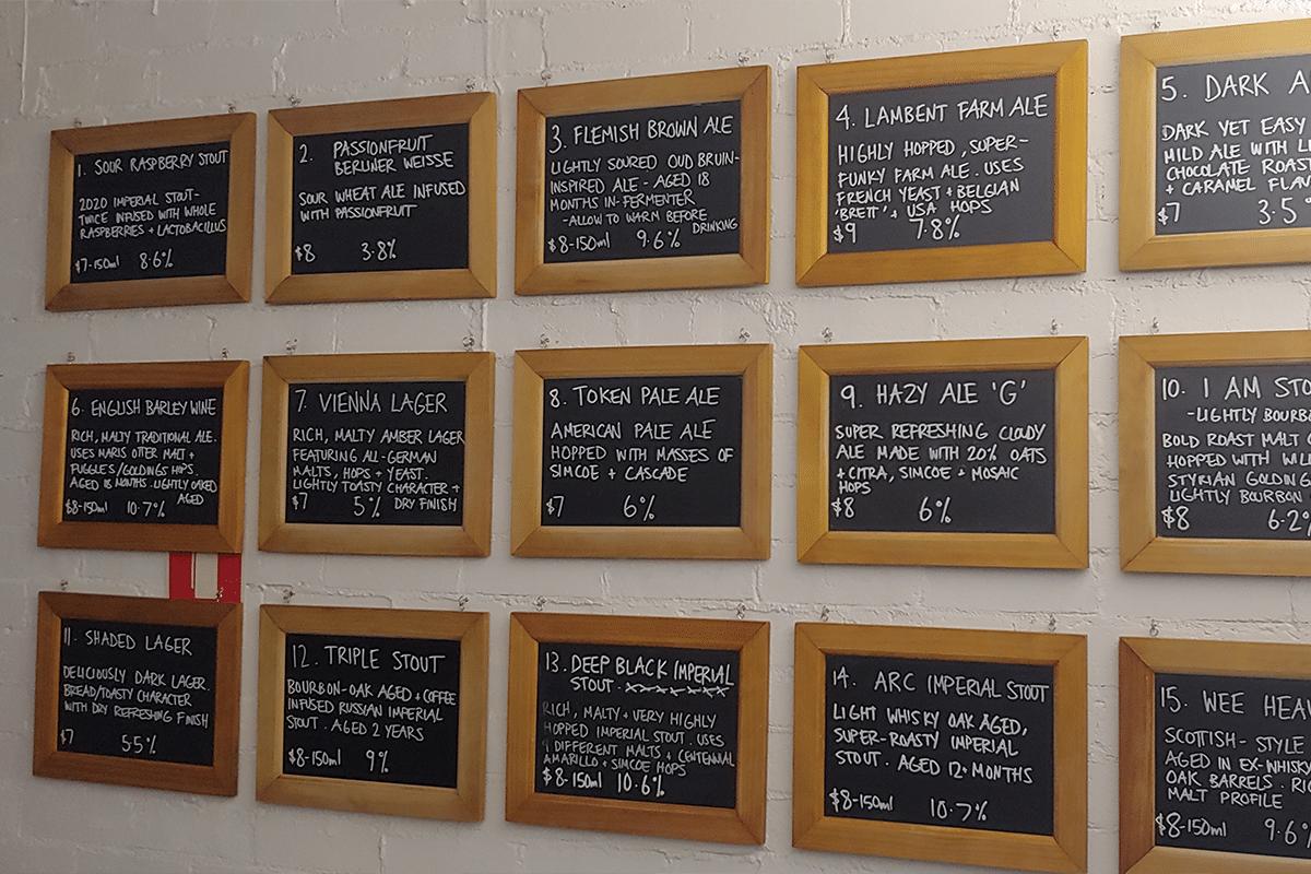 Blackfont brewery menu