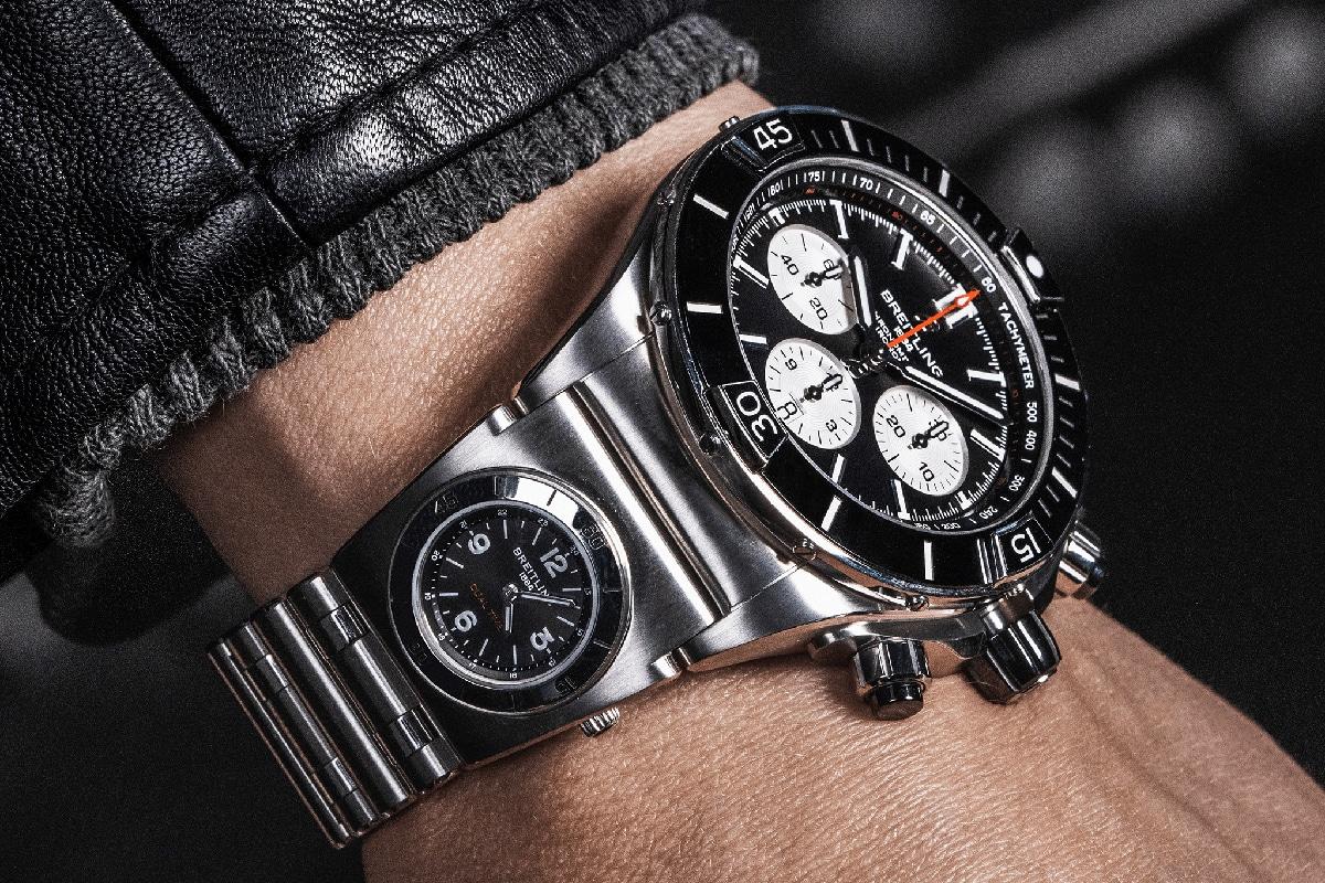 Breitling super chronomat with utc module 1