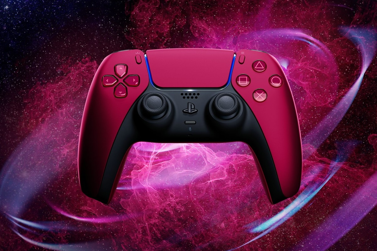 Cosmic red playstation 5 controller 1