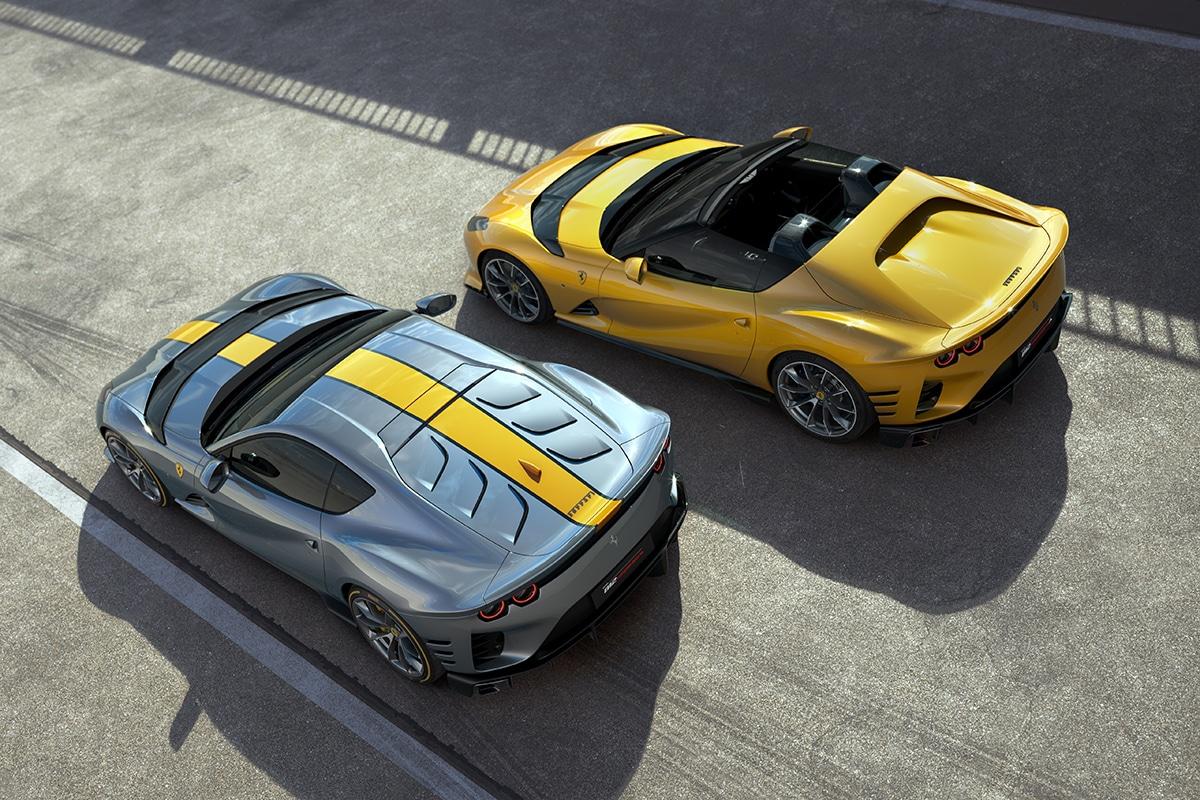 Ferrari 812 competizione and 812 competizione a