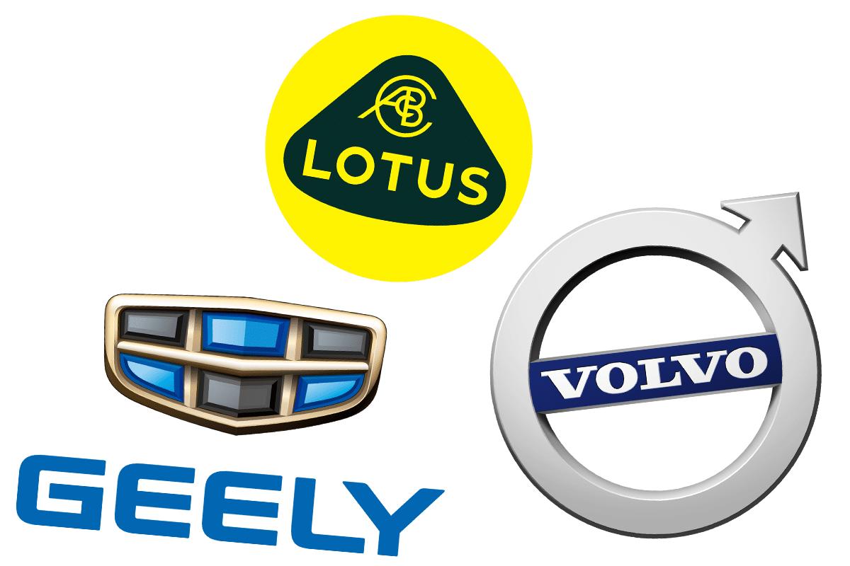 Geely car brand family tree