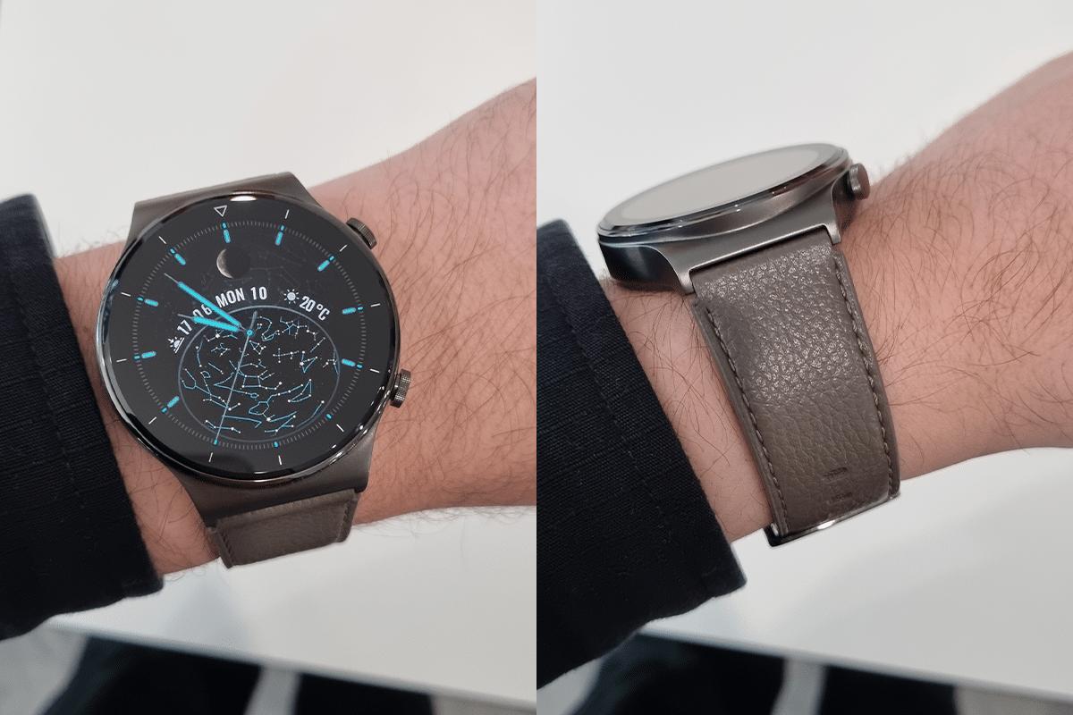Huawei watch gt 2 pro on wrist