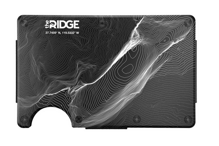 the ridge topographic aluminum wallet
