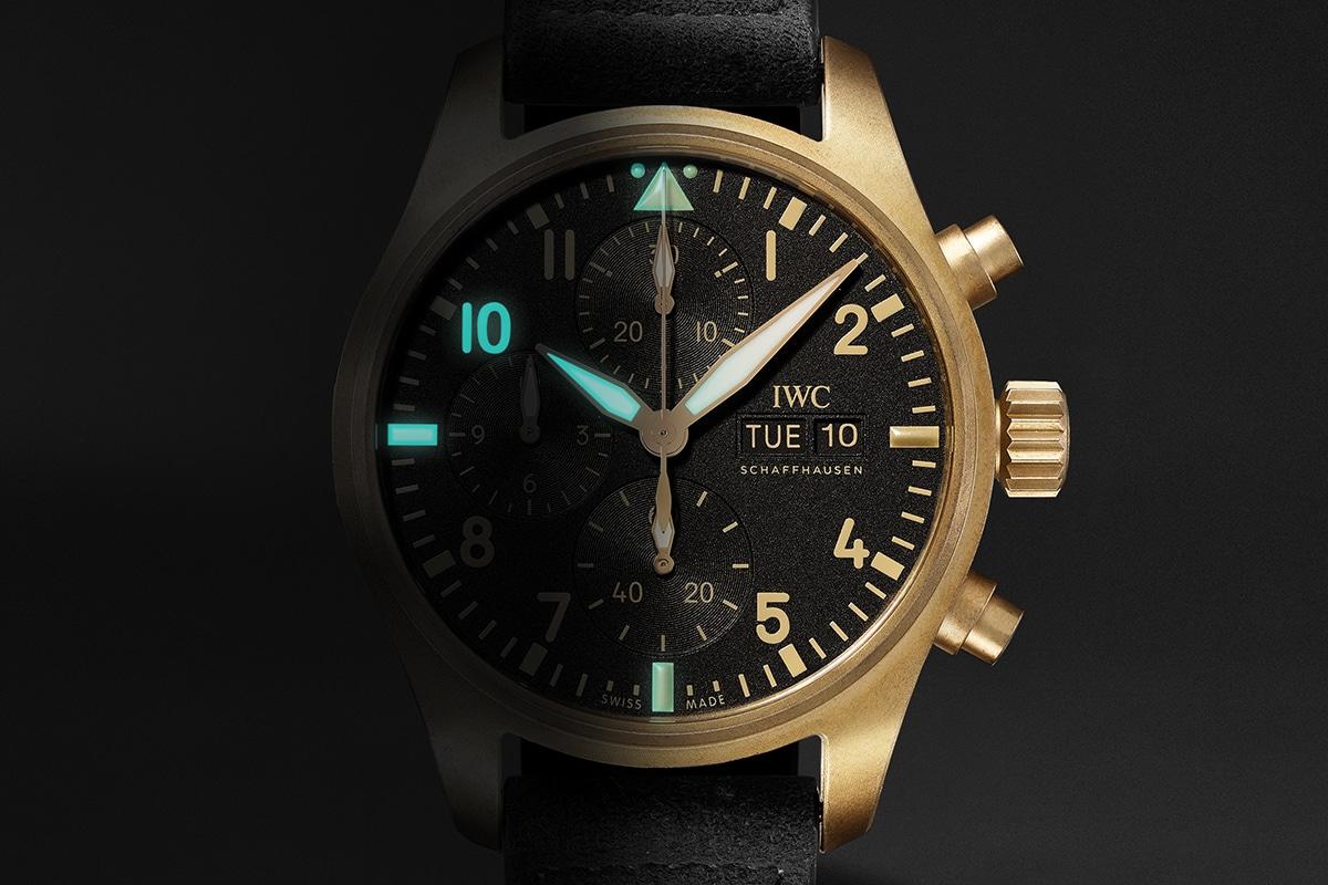 Iwc 10 years of mr porter pilots chronograph