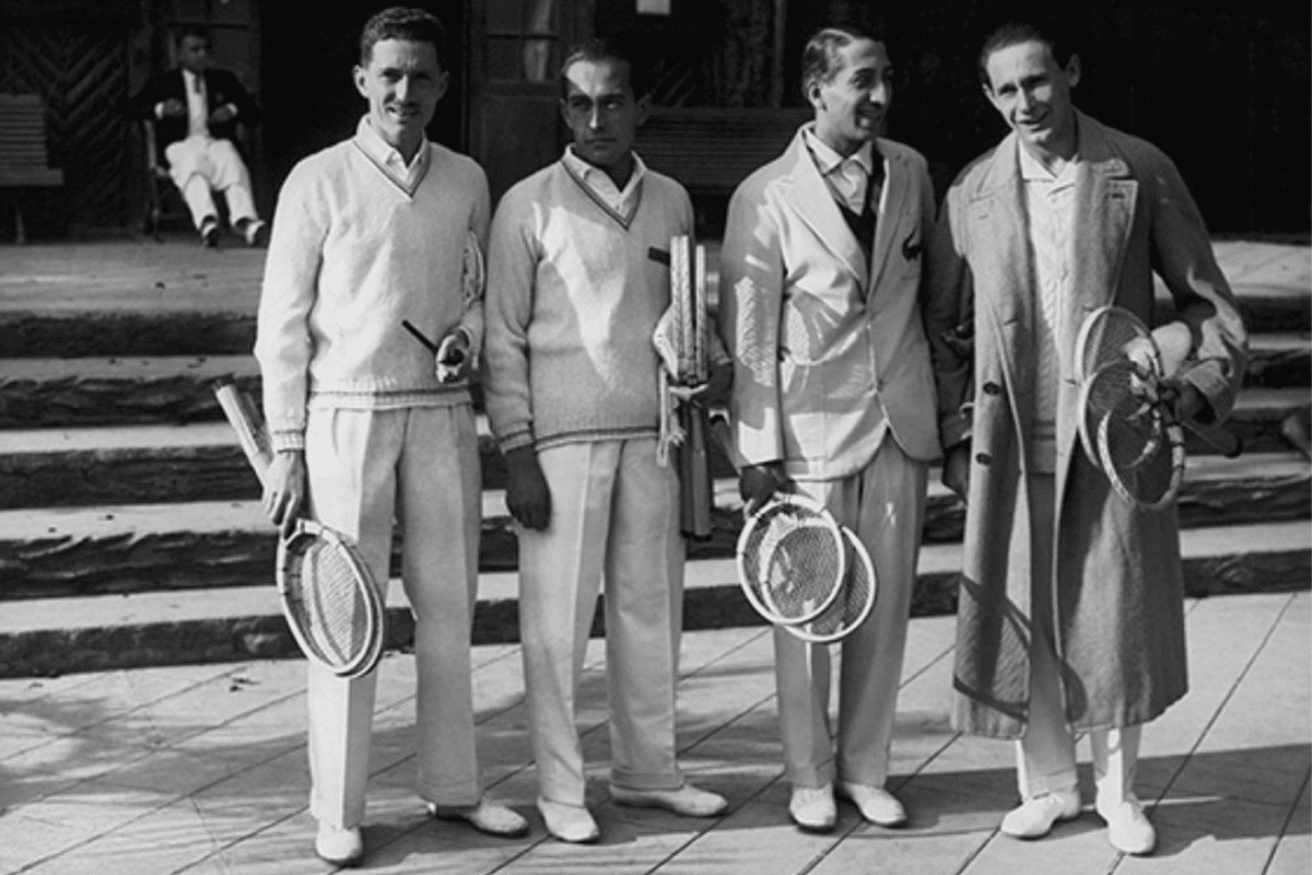 Lacoste 1930s white shoes