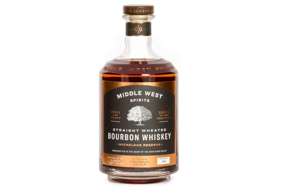 Middle west spirits bourbon wheated whiskey