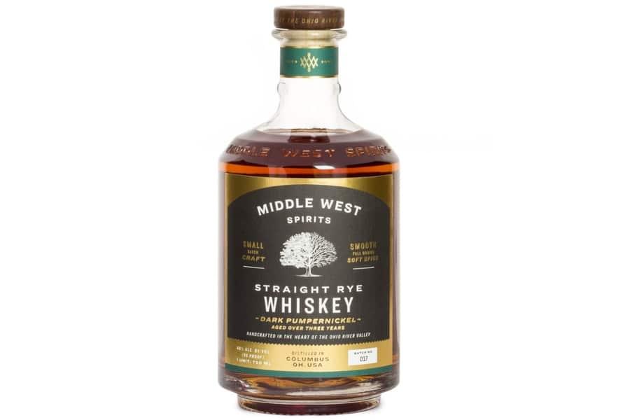 Middle west spirits straight rye whiskey