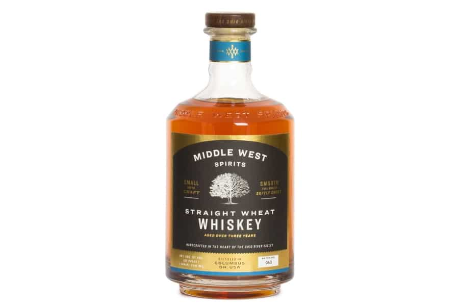 Middle west spirits straight wheat whiskey