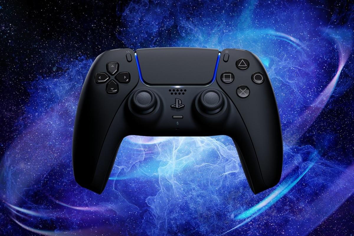 Midnight black playstation 5 controller