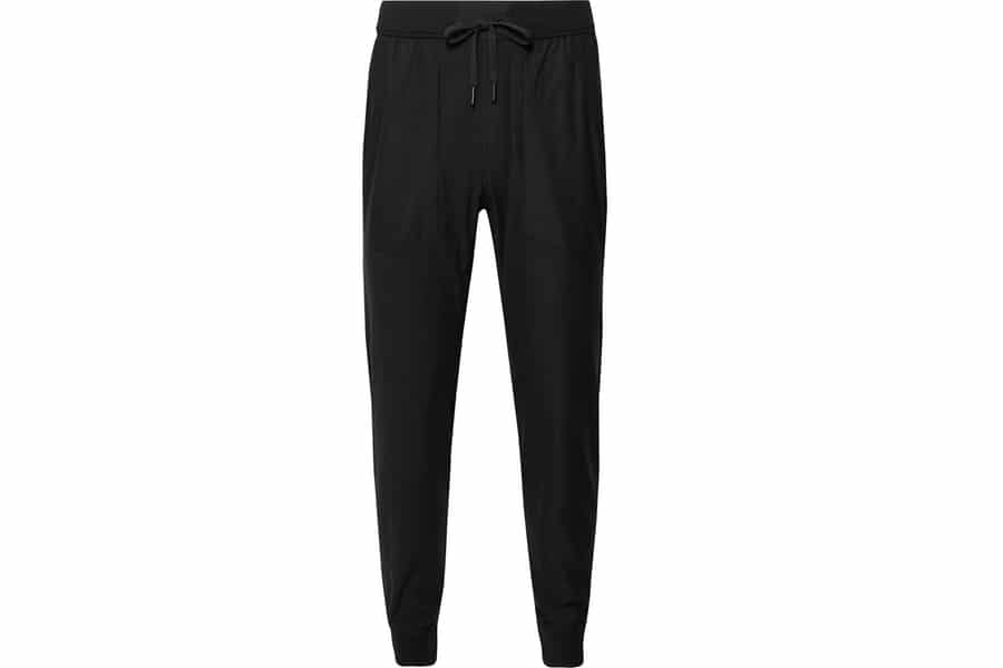 lululemon license to train tapered recycled stretch jersey trousers