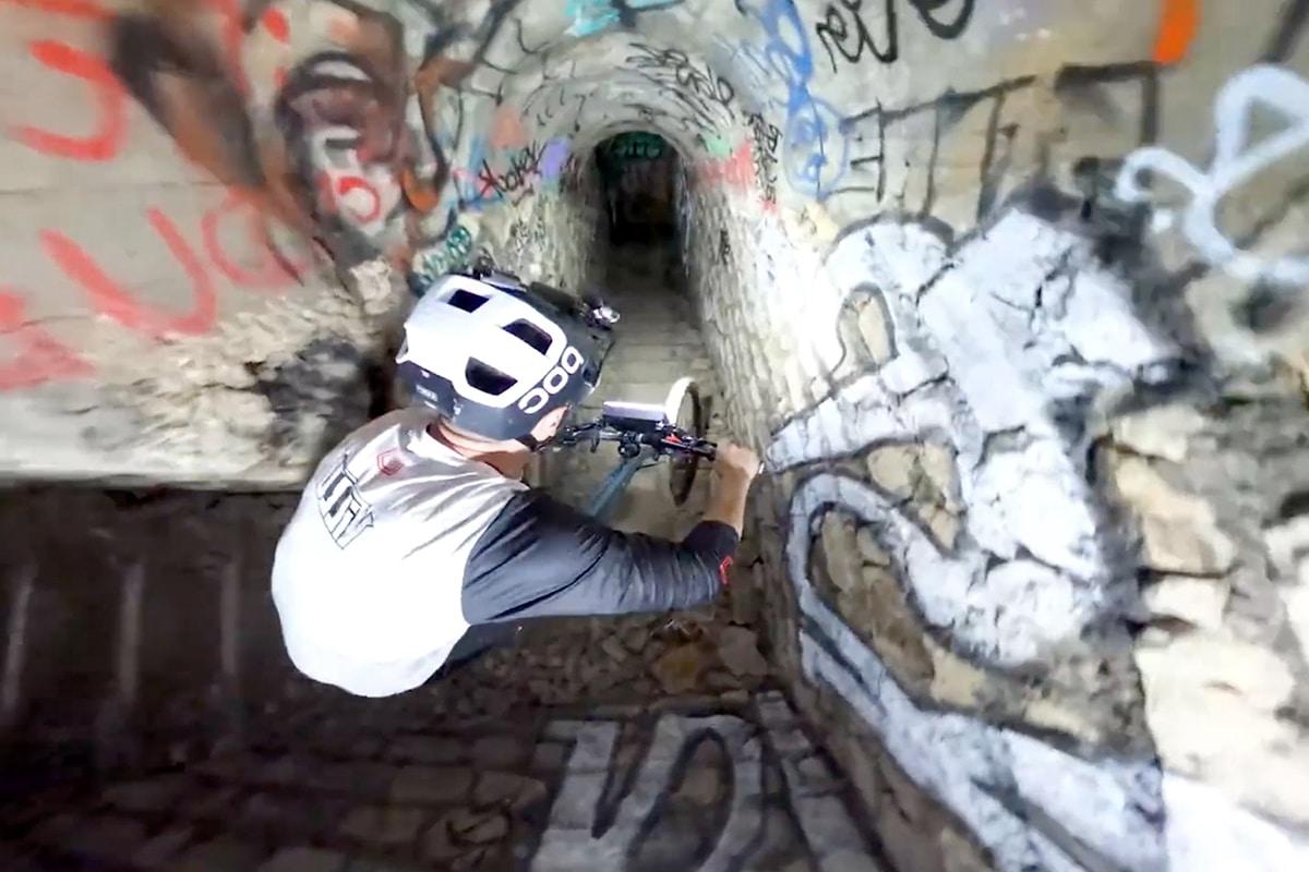 Mtb in paris catacombs