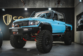 Pvs automotive 79 series landcruiser from front