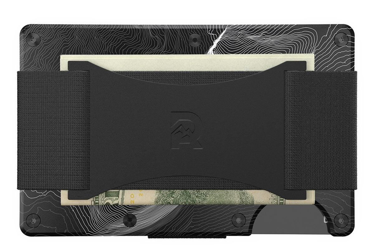 Ridge wallet topographic aluminium 1