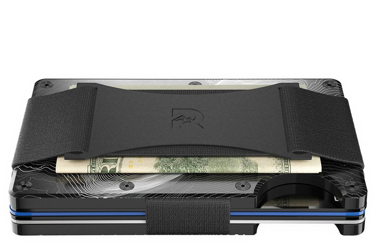Ridge wallet topographic aluminium 2