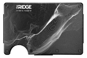 Ridge wallet topographic aluminium 3