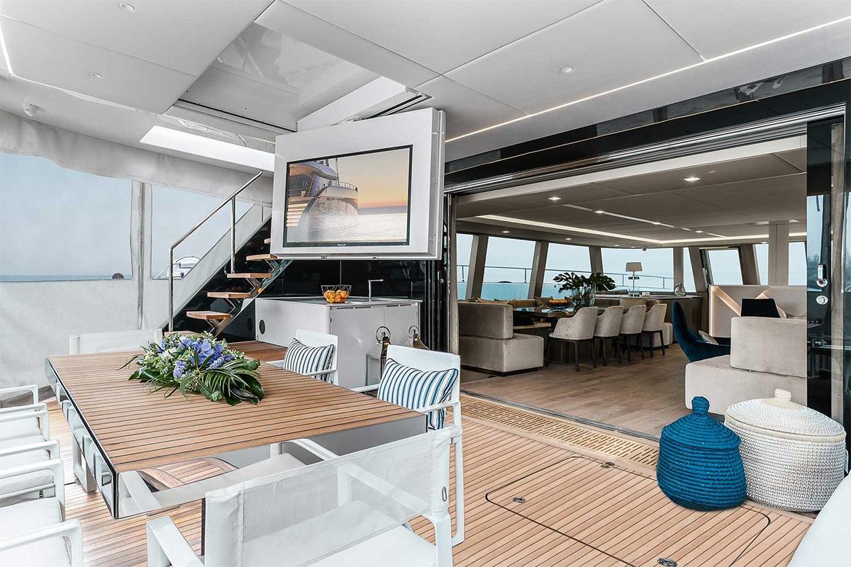 Sunreef 80 eco electric catamaran