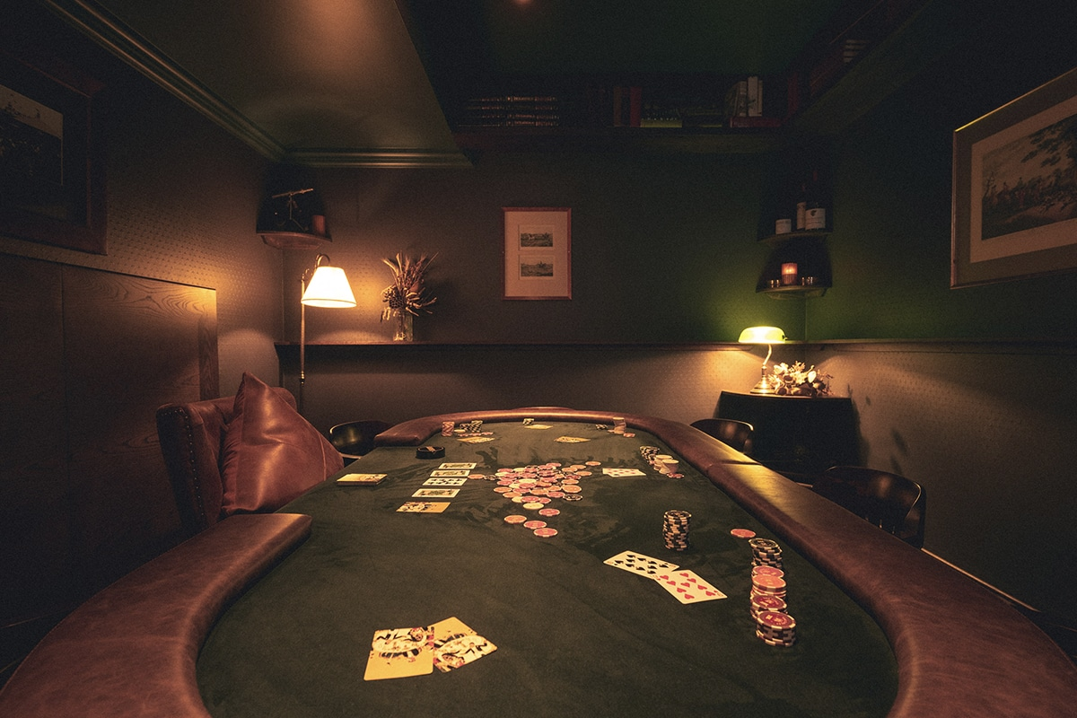 The library poker room
