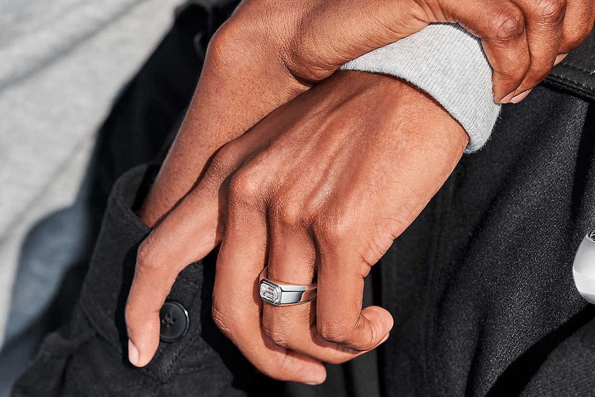 Tiffany engagement rings for men on hand 2