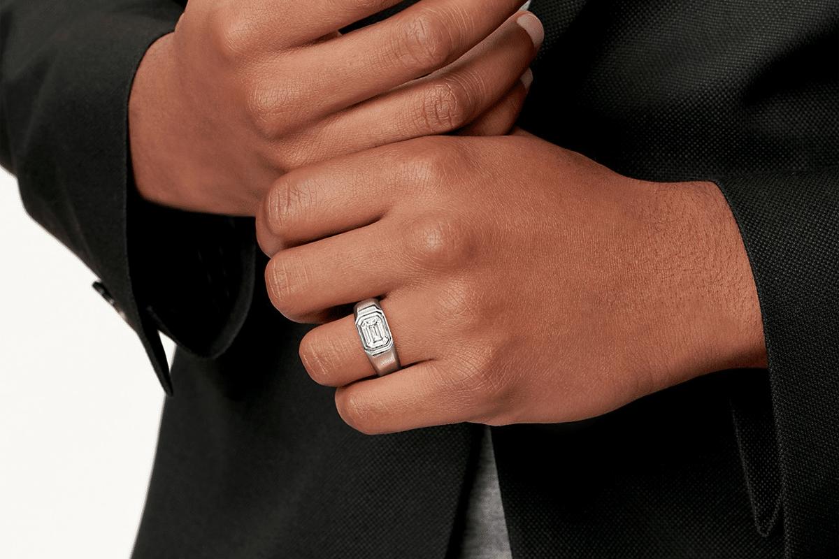 Tiffany engagement rings for men on hand