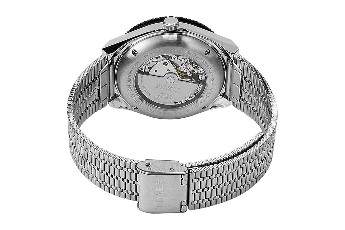 Timex x nn07 40mm automatic stainless steel bracelet watch