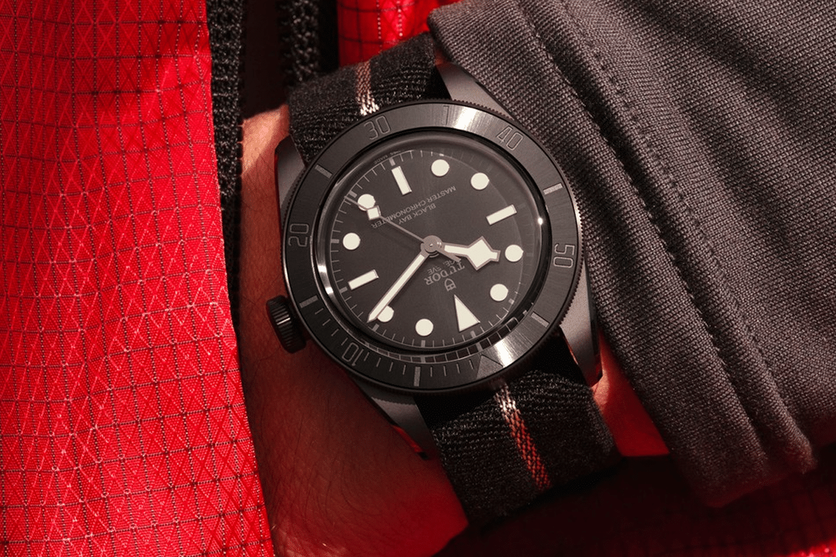 Tudor black bay ceramic 2021 on wrist 2