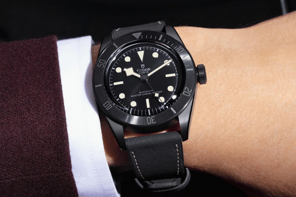 Tudor black bay ceramic 2021 on wrist